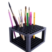 毛筆架 蒙瑪特馬克筆架筆筒收納盒畫筆架96格方形油畫丙烯水彩毛筆水粉筆多功能繪畫工具美術