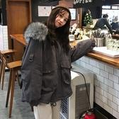 外套冬季棉衣女潮ins超火2019新款韓版bf寬松學生連加厚連帽工裝外套