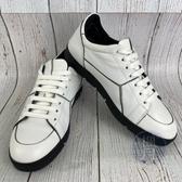 BRAND楓月 LOEWE 羅意威 白色 PUZZLE拼接 皮革 皮鞋 球鞋 平板鞋 歐規42