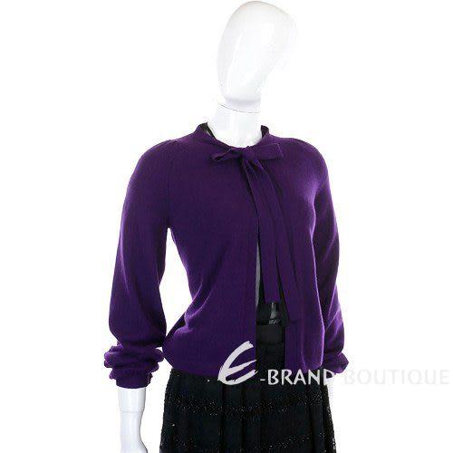 BRUNO MANETTI 100 % CASHMERE 紫色綁帶蝴蝶結外套 0740312-04