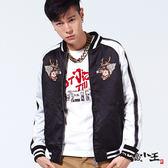【專櫃新品↘8折】地藏舞獅絲綢棒球外套 - JIZO 地藏小王