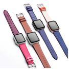 Apple Watch 皮革錶帶 1 2 3 4 代 38 40 42 44 mm 多彩 iwatch 替換帶 運動 替換錶帶 超多色 蘋果