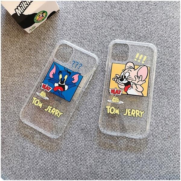 搞怪貓和鼠 iPhone 12 mini iPhone 12 11 pro Max 透明手機殼 湯姆與傑利 保護殼保護套 空壓氣囊殼
