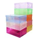 彩色塑膠透明鞋盒 收納盒 (單入不挑色)