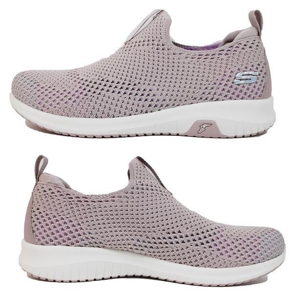 (C2) SKECHERS 女鞋 健走鞋UltraFlexPrime 運動鞋 套入式 超彈性鞋面 149397LAV藕色 [陽光樂活]