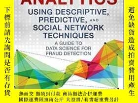 二手書博民逛書店Fraud罕見Analytics Using Descriptive, Predictive, And Socia