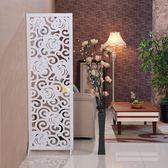 屏風隔斷客廳簡約現代小戶型摺疊簡易行動雙面雕花鏤空玄關裝飾牆