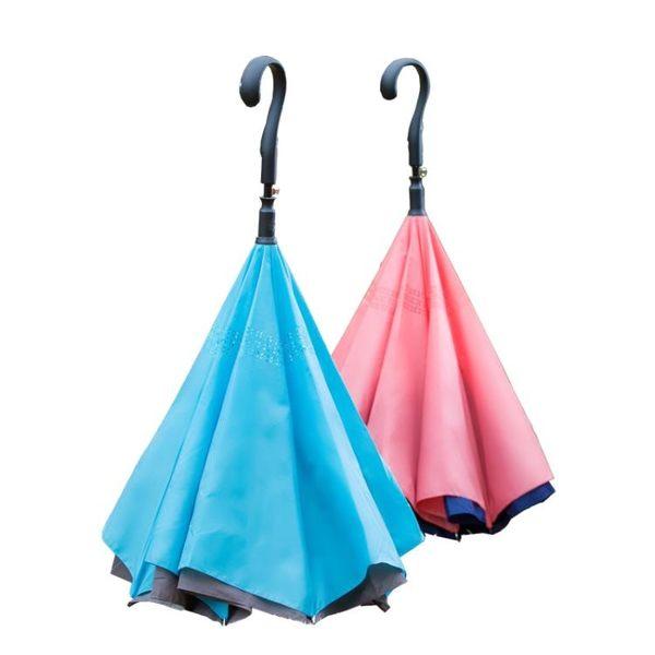 反向傘反轉晴雨傘大號雙人長柄遮陽太陽傘