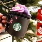 《花花創意会社》限量。星巴巴黑櫻花限定咖啡杯吊飾掛件零錢包星禮包 微瑕疵【H7046】