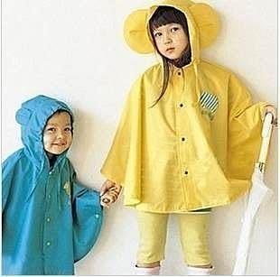 【發現。好貨】日單Smally動物圖案可愛大耳朵 寶寶兒童雨衣/雨披/附收納提袋 (三色)