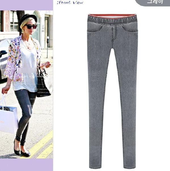 鉛筆褲窄管褲 歐美街頭顯瘦彈性牛仔鉛筆褲S~XXL 艾爾莎【TAT7450】