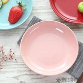 新品多彩陶瓷菜盤家用彩色陶瓷盤子