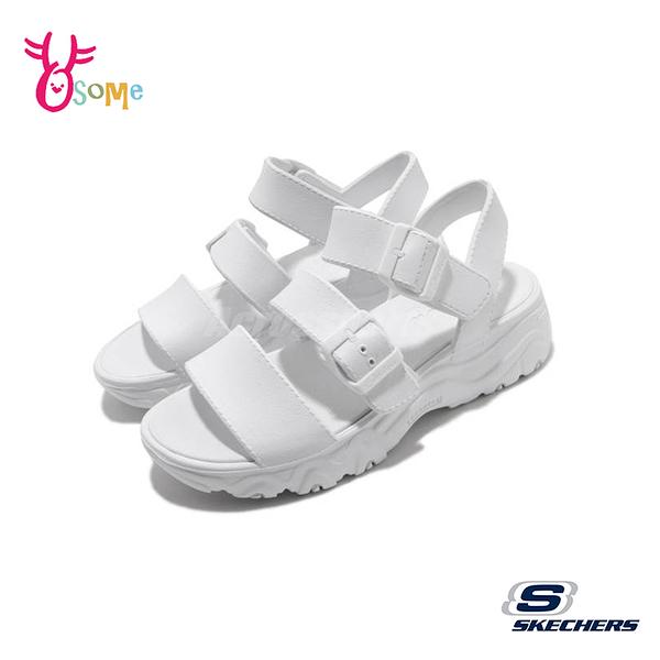 Skechers涼鞋 女涼鞋 D Lites 2 運動涼鞋 健走涼鞋 柔軟Q彈 U8233#白色◆OSOME奧森鞋業