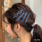 MD韓-簍空菱形髮夾組-3色【08190036】