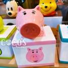正版 日本迪士尼系列 皮克斯立體大臉造型陶瓷牙刷架 筆架 火腿豬款 COCOS PP001