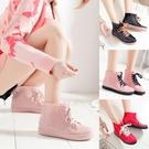 水鞋女雨靴短筒 夏季雨鞋女 韓國可愛時尚水靴套鞋 學生防滑膠鞋‧防水