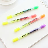 ♚MY COLOR♚日式糖果色雙頭螢光筆 文具 學生 辦公用品 記號筆 彩色 標記筆【P141】