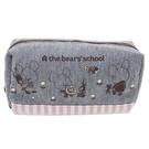 【日本正版】小熊學校 棉質大筆袋 鉛筆盒 筆袋 化妝包 the bear's school - 424930