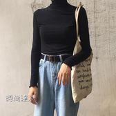 正韓學院風秋裝T恤百搭復古高領打底衫學生上衣秋裝熱賣夯款