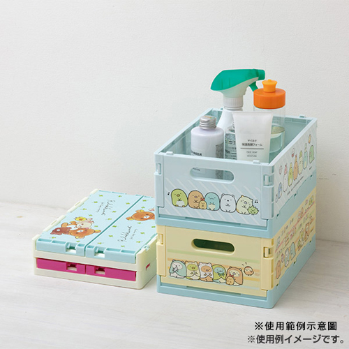 San-X 多功能可折疊萬用箱 整理箱 置物盒 RILAKKUMA拉拉熊 夥伴 對話 桃紅_XS74558