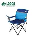 【LOGOS 日本 NEOS 美背休閒椅《藍》】73172009/休閒椅/摺疊椅/休閒椅
