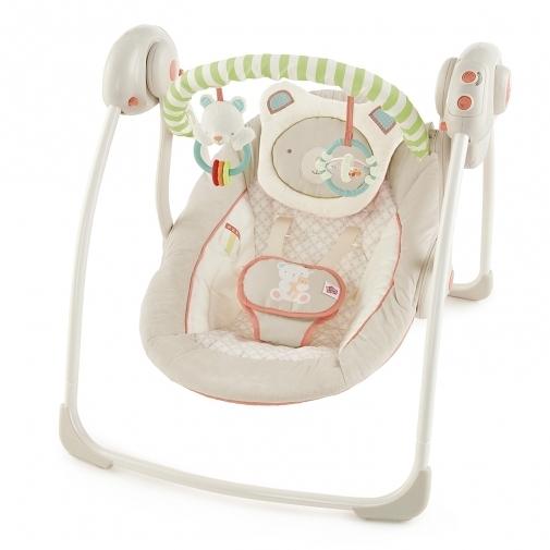 [ 家事達 ] HB KIds II-BS-微笑熊攜帶式安撫搖床  特價 嬰兒床
