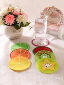 杯墊隔熱墊餐桌墊防燙歐式墊子創意簡約硅膠家用防滑可愛卡通水果