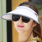 防曬帽子-抗紫外線UV超大眉檐遮陽高爾夫球休閒空心帽J7548 JUNIPER