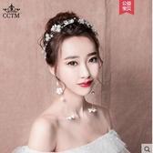 新娘頭飾2020新款日韓森繫髮箍白色婚紗禮服配飾結婚花朵髮 萊俐亞
