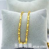 黃金色項錬 歐幣打造仿真金項錬元寶錬韓版個性男女裝飾項錬久不掉色 米蘭街頭