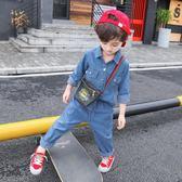 童裝男童春秋裝牛仔套裝新款秋季兒童兩件套寶寶韓版帥氣潮衣 焦糖布丁