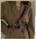 腰封 洋裝配飾 西裝時尚腰帶女士百搭裝飾腰封皮帶黑色配洋裝子毛衣收腰背帶潮