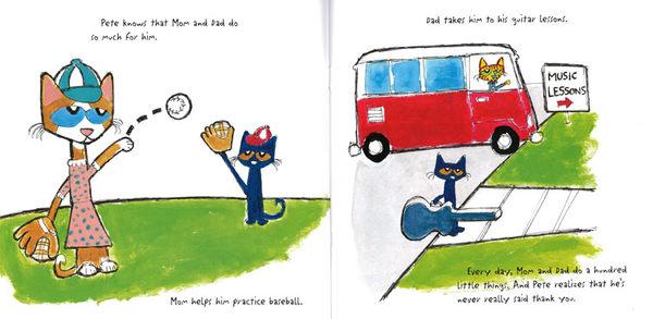 【麥克書店】PETE THE CAT ROCK ON MON AND DAD /英文繪本