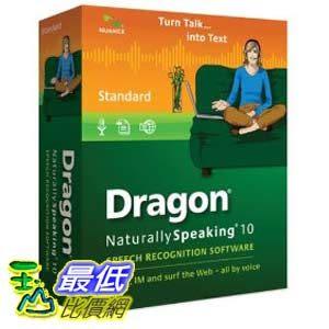[美國直購ShopUSA] 軟體排行榜 Dragon NaturallySpeaking 10 Standard$1771