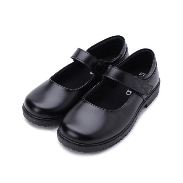 ARRIBA 魔鬼氈圓頭娃娃鞋 黑 AY4106 女鞋 鞋全家福