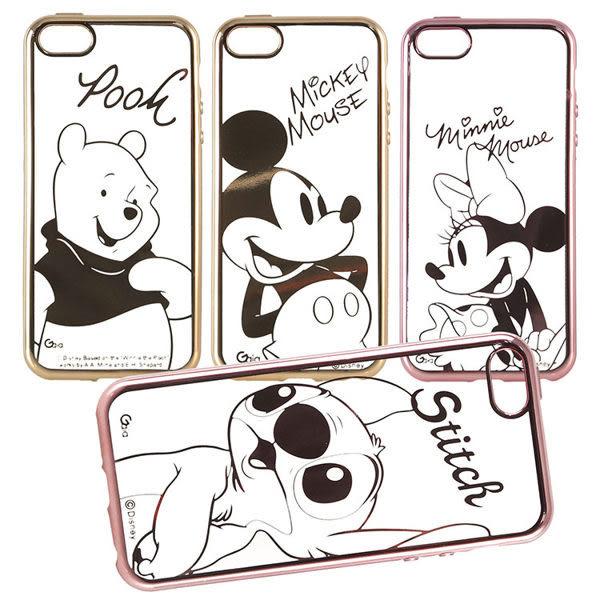 【DD現貨】迪士尼TPU iPhone 6 6S電鍍系列彩繪保護套-人物系列 iPhone 5/5s/SE iPhone 6s plus手機殼