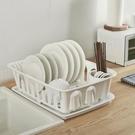 日式廚房餐具瀝水架收納架特大號碗架帶蓋碗碟架碗筷置物架收納盒 格蘭小舖