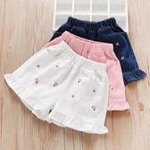 女童牛仔短褲夏季薄款2020年小女孩白色外穿百搭洋氣兒童褲子夏裝 艾瑞斯居家生活