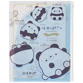 San-X A4 日本製雙開夾鏈袋文件夾 Hamipa熊 日常生活 藍