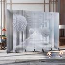 屏風 北歐簡約屏風隔斷臥室遮擋家用客廳餐廳摺疊行動布藝經濟型折屏T