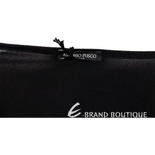 ANTONIO FUSCO 黑色扭結V領長袖洋裝 0940340-01