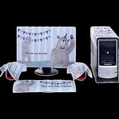 (快出)電腦防塵罩韓式田園布藝液晶顯示器蓋巾臺式蓋布27寸2224寸電腦套