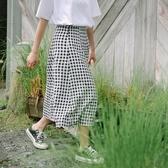 格紋長裙-文藝清新氣質百搭女裙子73rw4【巴黎精品】