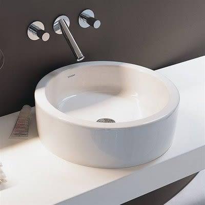 【衛浴先生】德國 DURAVIT STARCK1 正圓檯面盆 白色 044753(樣品出清價)