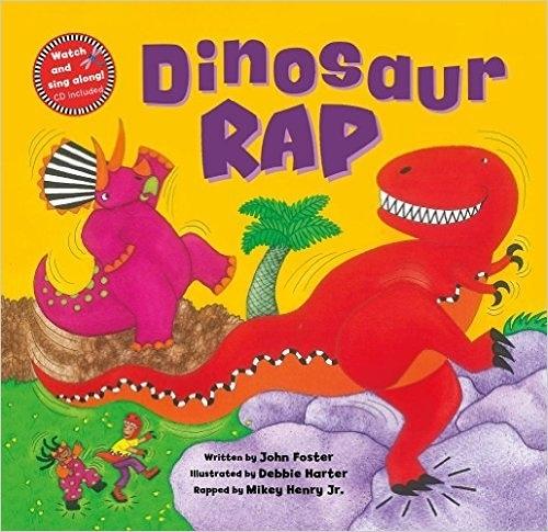 【麥克書店】DINOSAUR RAP/文繪本附VCD 《主題:恐龍/歌唱.肢體律動》