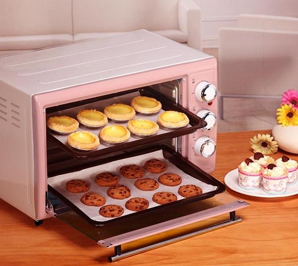 烤箱小熊烤箱家用烘焙全自動多功能30升大容量蛋糕面包迷你小型電烤箱 220vJD   美物 99免運