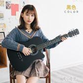 41寸38寸民謠木吉他初學者男女學生練習樂器送全套新手入門琴 QQ22064『東京潮流』