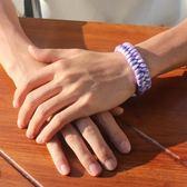 手鍊男潮韓版簡約學生編織繩男生個性夜光情侶手繩女男士日繫手飾 優尚良品