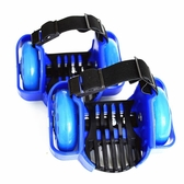 羅威加強版PU風火輪輪滑鞋兒童星空輪滑光輪代步工具後跟式暴走鞋