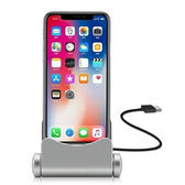 【GZ 24】新款可旋轉手機底座折疊手機座充 適用蘋果/安卓/Type-C充電支架